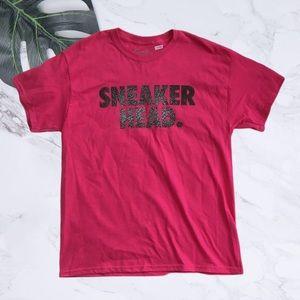 Men's Pink Sneaker Head T Shirt Size Large. NWOT